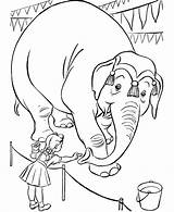 Coloring Pages Circus Animal sketch template