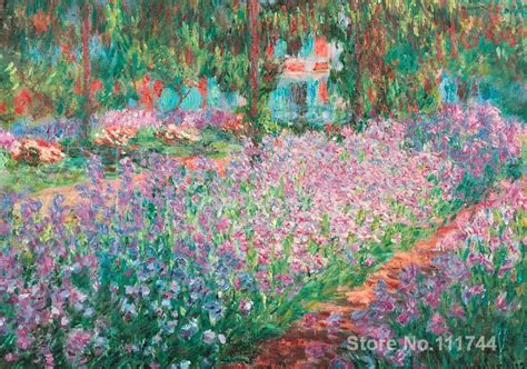 office art jardin  giverny famous claude monet paintings hand painted high quality  painting