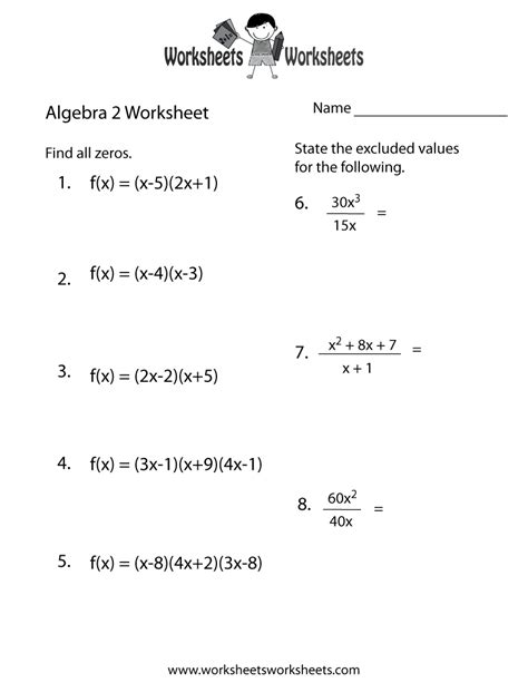 algebra  practice worksheet worksheets worksheets