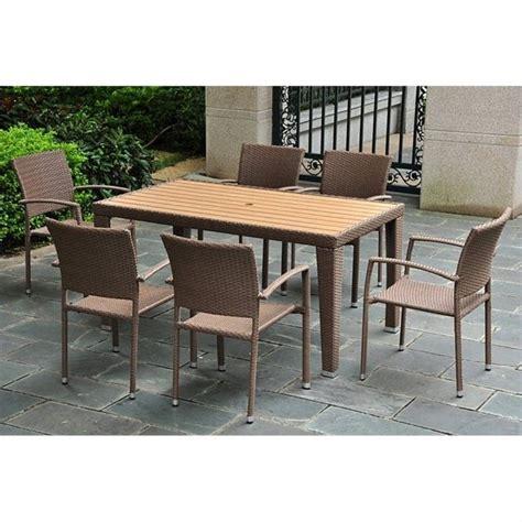 7 wicker patio dining set 4200 rt 4210 6ch abn
