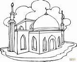 Coloring Getdrawings Mosque sketch template