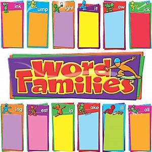 Word families bulletin board set imagine global ltd for Bulletin board template word
