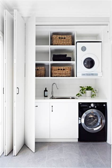 Black Kitchen Sink Nz by 40 Small Laundry Room Ideas And Designs Renoguide