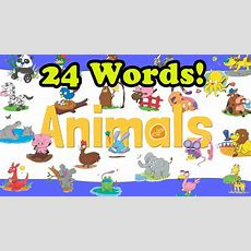 Animals Vocabulary Chant For Kids  Elf Learning  Elf Kids Videos Youtube