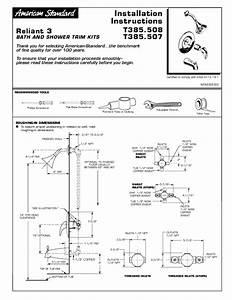 Bath  Shower Trim Kits T385 507 Manuals