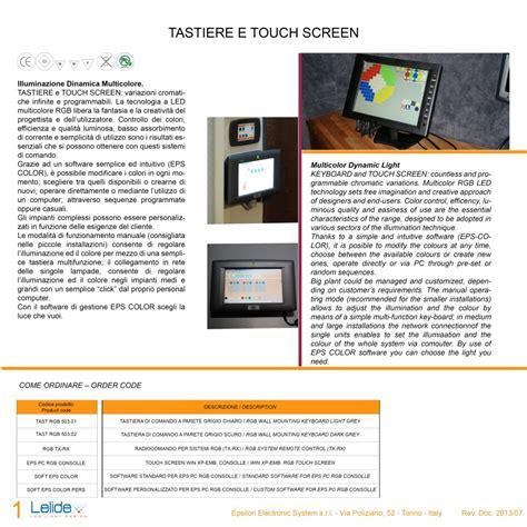 software illuminazione controlli elettronici led luce dinamica gestione della