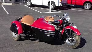 1941 Indian 4 Cylinder And Sidecar