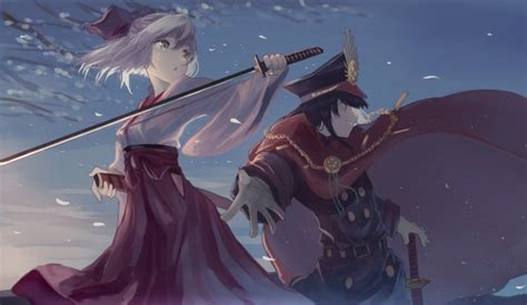 wallpaper sakura saber demon archer fate grand order