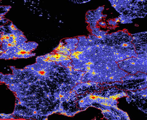 pollution map light pollution map Light