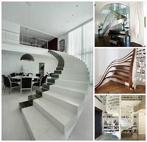 Décoration D Escalier Intérieur : escalier design pour une d co d 39 int rieur moderne e en 75 id es ~ Nature-et-papiers.com Idées de Décoration