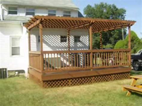 find a builder in your area deck with pergola arbor construction