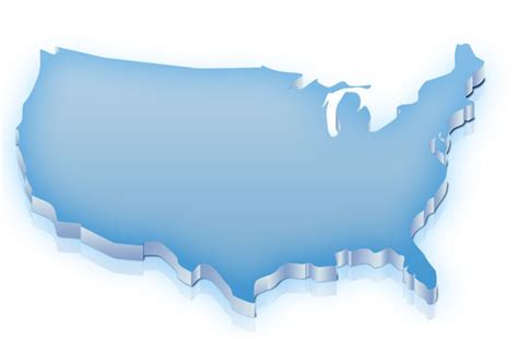 Free Us Map Template For Photoshop