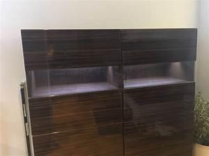 Ikea Kommode Braun : ikea besta sideboard schwarz braun selsviken mit beleuchtung highboard kommode ebay ~ Watch28wear.com Haus und Dekorationen
