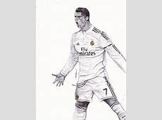 Cristiano Ronaldo Ballpoint Pen Drawing by demoose21 on