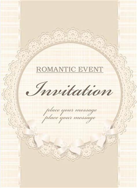 classic wedding invitation vectors