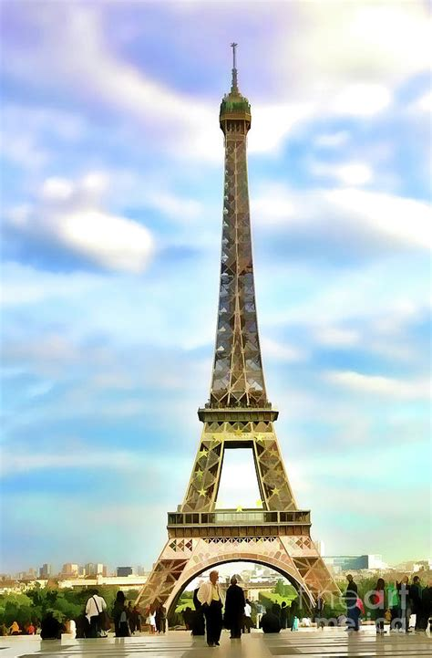 eiffel tower color color eiffel tower paint photograph by chuck kuhn