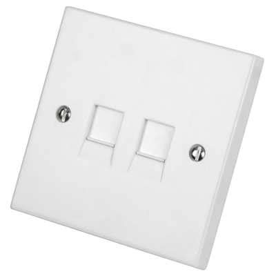 lga selectric  gang twin rj socket white nlgrj cef