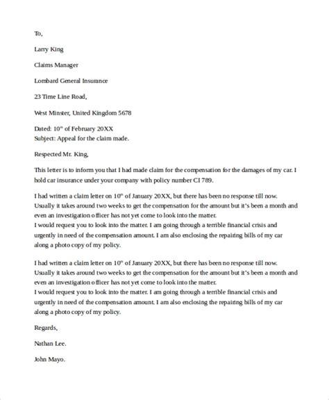 letter  insurance company  settle claim settlement