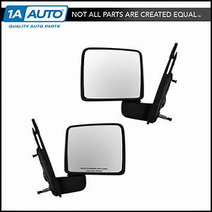Mirrors Manual Side View Left Lh  U0026 Right Rh Pair Set For