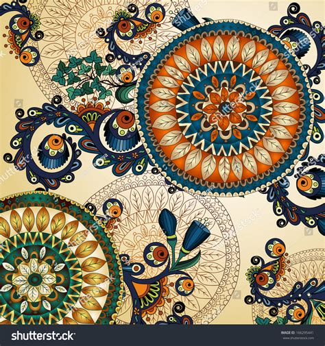 vector floral ethnic decorative background template stock