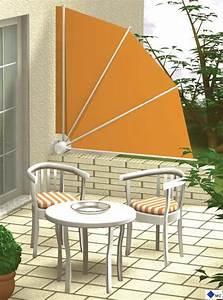 seitenbeschattung seitenwandmarkise sichtschutzfacher With markise balkon mit tapeten bordüre sterne