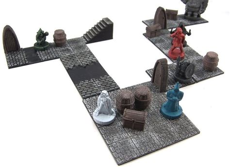 3d Printed Dungeon Tiles by 3d Printed Modular Dungeon Tiles Set By Dutchmogul
