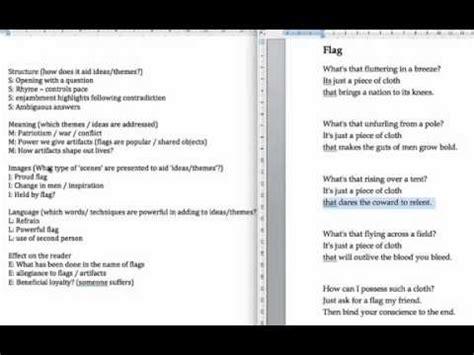 gcse english literature poetry essay structure copywriterbiohorizonsxfccom