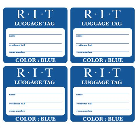 luggage label template printable label templates