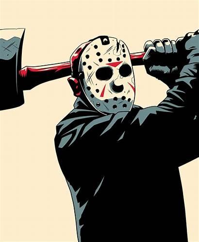 Jason Horror Friday 13th Monster Behance Drawing