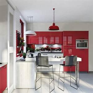 cuisine rouge 10 bonnes raisons de craquer marie With meuble de cuisine en bois rouge 1 cuisine rouge 10 bonnes raisons de craquer marie claire