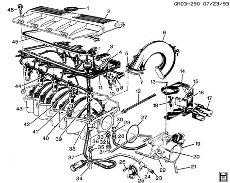 1996 Cadillac Concour Engine Diagram by Throttle W Intake Manifold And Rail Fis