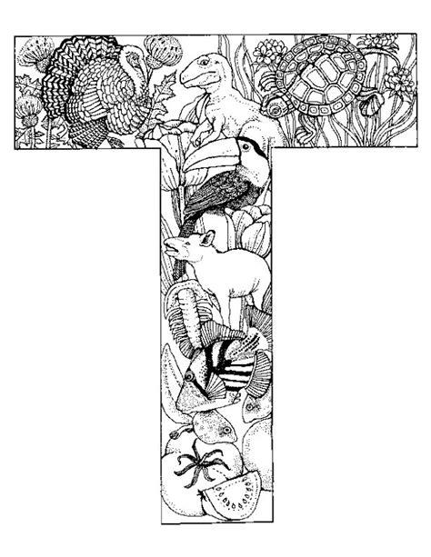 Kleurplaat Letter T by N Kleurplaat Alfabet Dieren Letter T