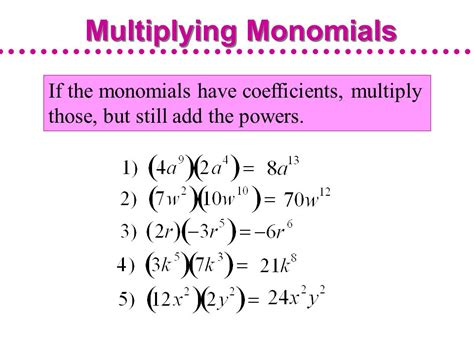 Multiplying Monomials And Raising Monomials To Powers  Ppt Video Online Download