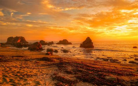 sunset sea beach landscape ocean  wallpaperscom
