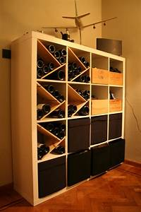 how to combine ikea items to build your own wine rack With meuble 9 cases ikea 16 range bouteilles brico