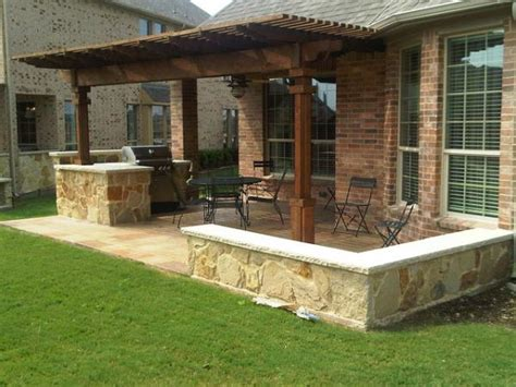patio kitchen ideas houston outdoor kitchen with cedar pergola lone