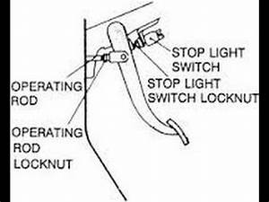 how to install a brake light switch car and truck repairs With this is with the brake light switch unplugged and looking into the
