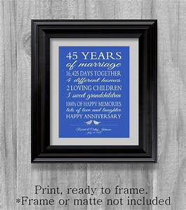 45th anniversary gift parents sapphire blue personalized love With 45th wedding anniversary gift