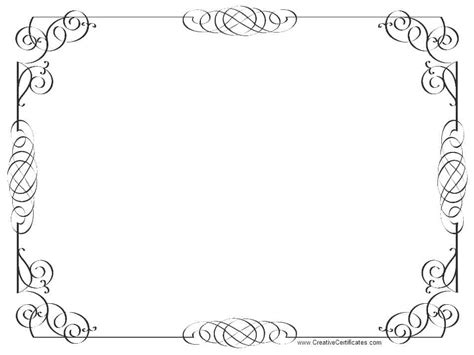 Borders For Certificates Templates by Certificate Borders