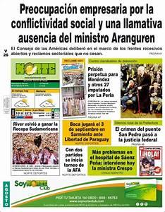 Peri U00f3dico Diario Norte  Argentina   Peri U00f3dicos De Argentina  Edici U00f3n De Viernes  26 De Agosto De
