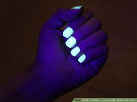 ways  activate glow   dark nail polish wikihow