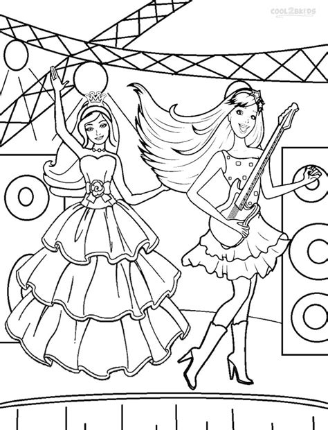 printable barbie princess coloring pages  kids coolbkids