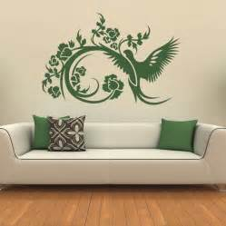 floral decorative bird wall stickers wall art decals