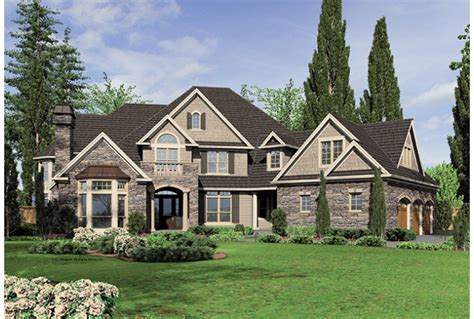 5 bedroom home eplans new american house plan five bedroom new american
