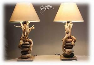 Lampe Chevet Bois Flotté : lampe galet lampe de chevet design marchesurmesyeux ~ Teatrodelosmanantiales.com Idées de Décoration