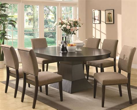 Chicago Furniture Contemporary Dining Set with Oval Top