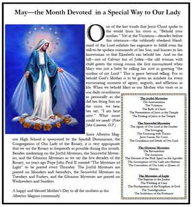 Month of May Blessed Mother Mary