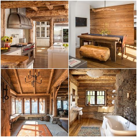 Log Cabin Style Meets Ethnic Modern Interior Design by 8 Amazing Log Cabin Interiors That Will Make You Awestruck