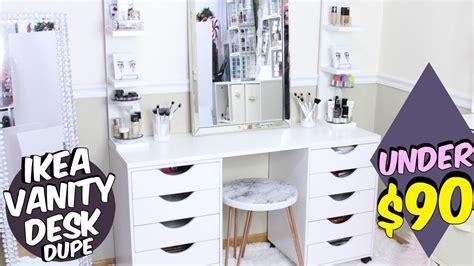 desk with drawer ikea alex desk dupe diy 90