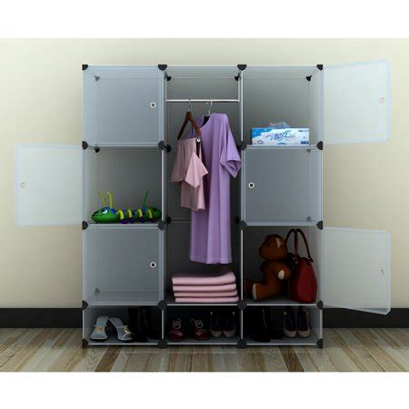 Enclosed Closet Systems by Portable Wide Modular Storage Clothes Closet